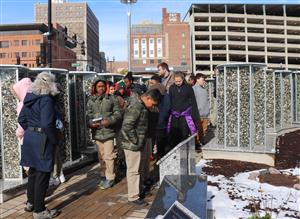 Mark Bills students tour Peoria Holocaust Memorial