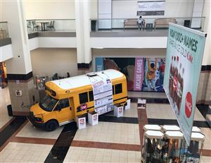 Stuff-A-Bus Display, Northwoods Mall