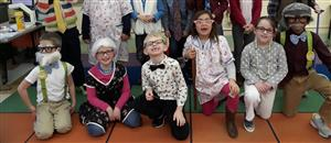 First Grade Students Celebrate the 100th Day of School
