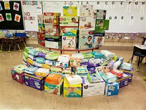 Kellar Students Donate Over 7,000 Diapers