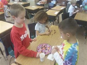 Second Graders Design Structures with Cranberries and Toothpicks