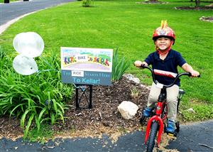 Families Participate in National Bike to School Day