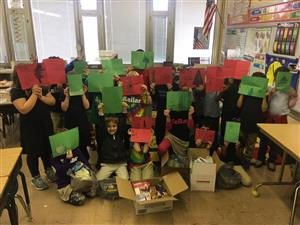Second Graders Offer Help to People in Puerto Rico