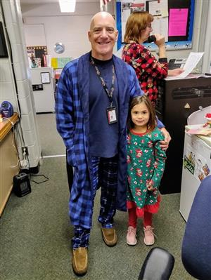 Student Gets to Act as Principal for a Day Dressed in Her PJs