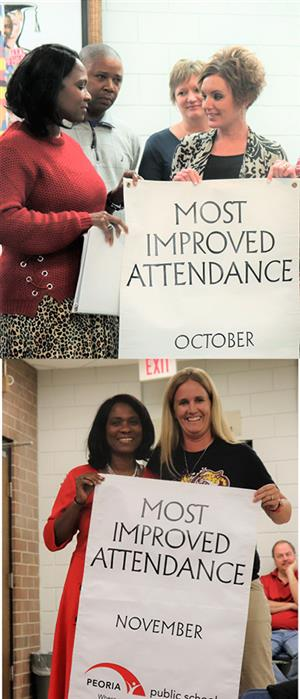 SMS recognized for most improved attendance