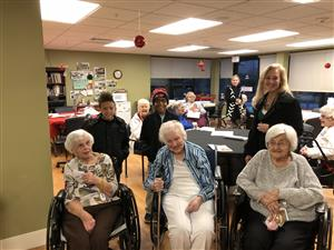 Student Council brought holiday cheer to residents of  Beuhler Home.