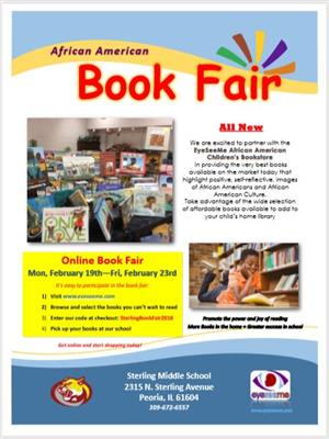 African American online book fair to support Sterling Middle School