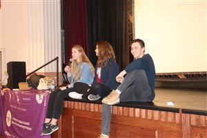 Foreign exchange students speak at PHS