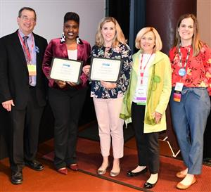 Myskeshia Mitchel (second from left) with IACAC Project Reach committee members