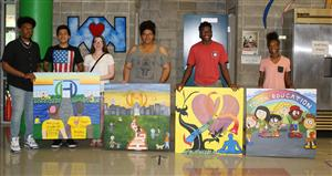 PHS students paintings for Hult Center for Healthy Living