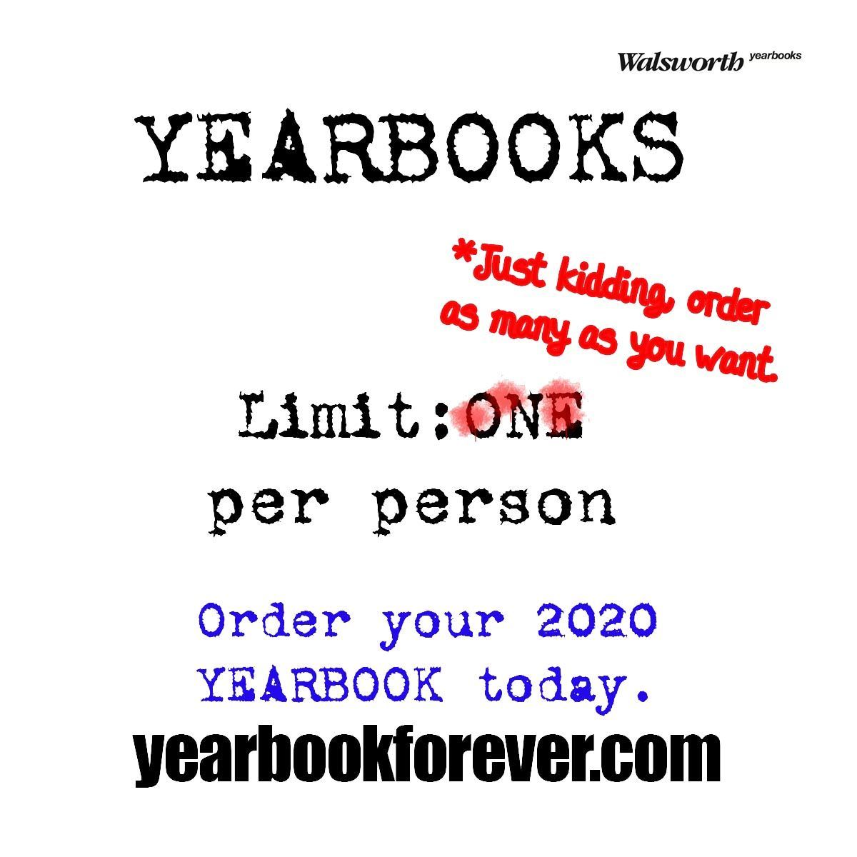 The Excalibur yearbook can still be purchased by visiting yearbookforever.com.  A limited number of books are available and delivery will be the first week in May.  Details about how to pick up your yearbook will be announced at a later date.  Contact Dr.