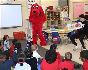 Clifford at Thomas Jefferson for Read Aloud Day