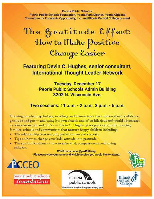 The Gratitude Effect Workshop flyer