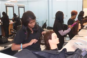 WCTC cosmetology students practice skills