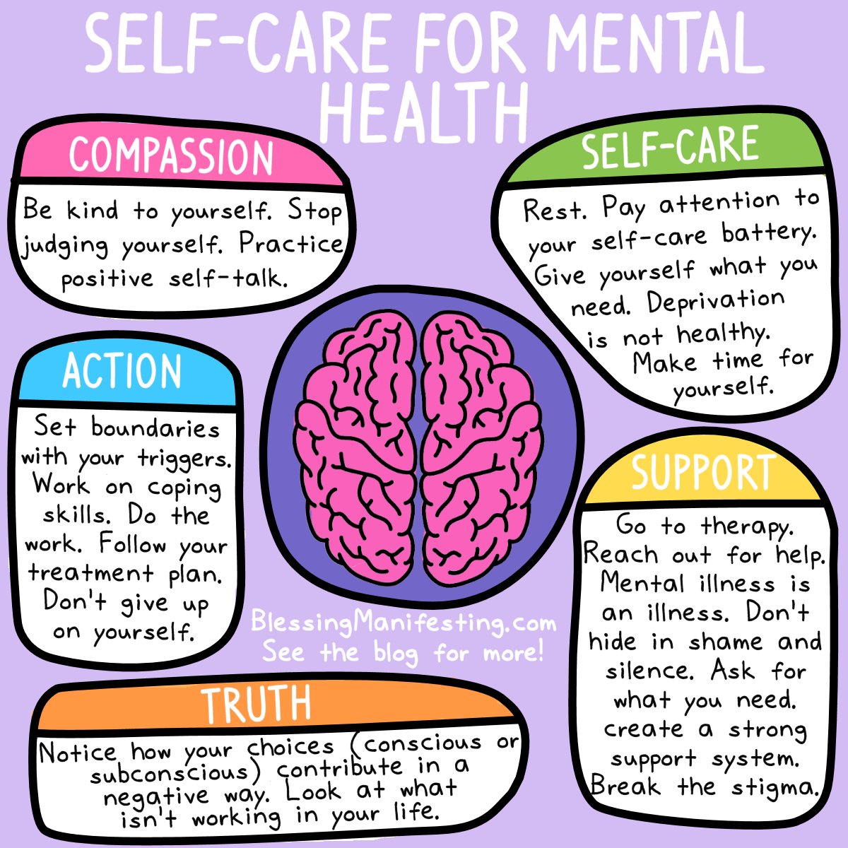 Self care for mental health