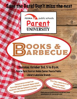 Books and Barbecue Save the Date!