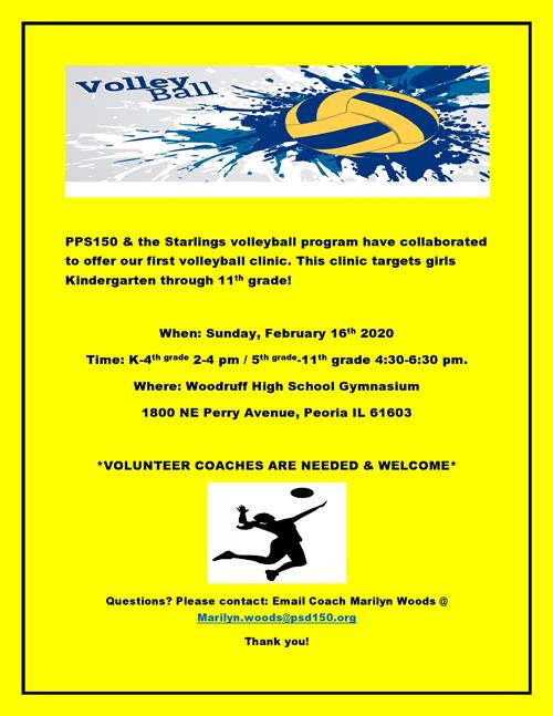 PPS150 & Starlings Volleyball Clinic