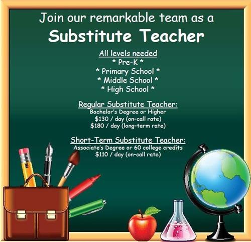 Join our remarkable team as a substitute teacher! Call 309-672-6770.