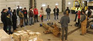 WCTC construction trade students tour Illinois American Water