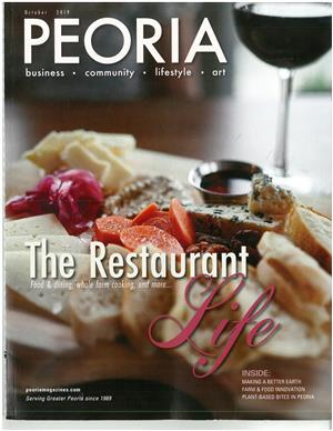Front cover Peoria Magazine October 2019