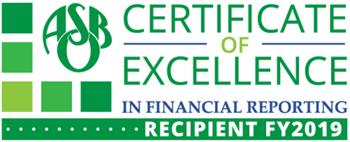 Certificate of Excellence FY2019