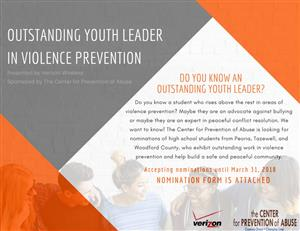 Outstanding Youth Leader Violence Prevention Nomination