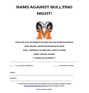 PLEASE JOIN US AS WE CELEBRATE NATIONAL BULLYING PREVENTION MONTH!