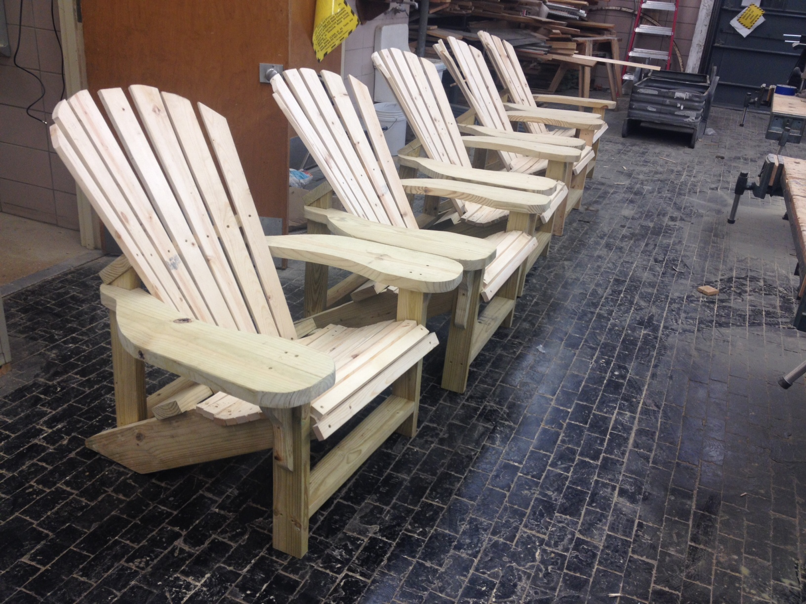 Student Made Adirondack Chairs For Sale