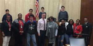 Manual Academy's AVID students tour Peoria County Courthouse
