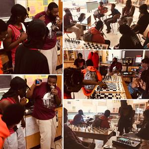 Cleveland Totten  worked with Manual students during the HipHopEd Lab.  HipHopEd Lab meets every Thursday, Mr. Stevens, room 163.
