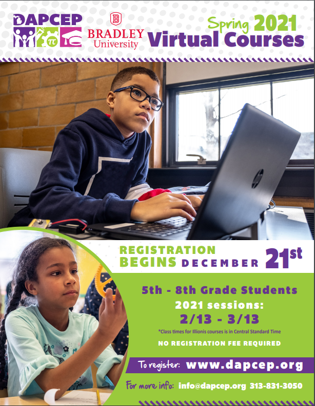 Bradley STEM Saturdays offers classes for Grades 5-8 ---February 2 thru March 9