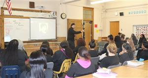 James Bryson speaks to WCTC students about Annie Malone