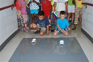 STEM camp auto races