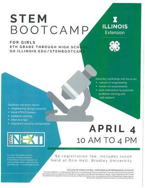 UIX STEM boot camp for girls, grades 8.12