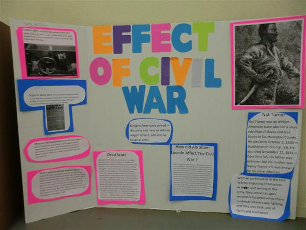 Photo Gallery 8th Grade Civil War Projects