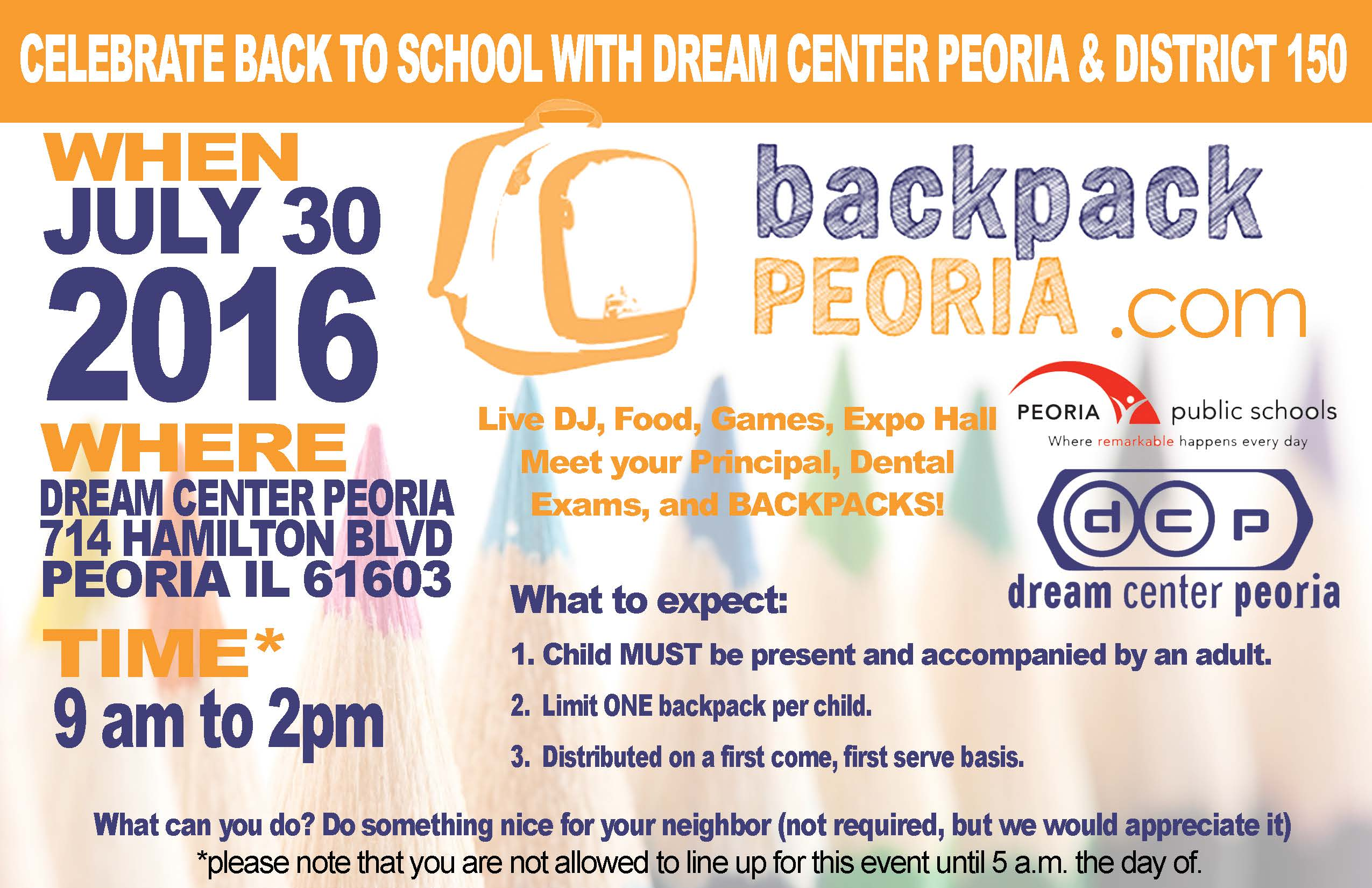 Backpack Peoria 2016