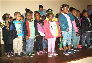 VHECEC students sing to Adopt-A-School partner Church Women United